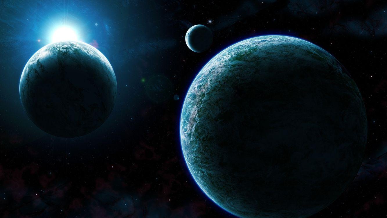 Фото бесплатно планеты, звезды, галактики - на рабочий стол
