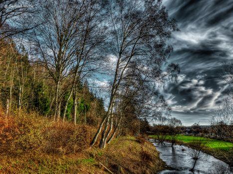 Бесплатные фото река,лес,деревья,поля,пейзаж