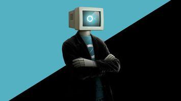 Бесплатные фото робот,одежда,голова,монитор,крестик,нолик,юмор