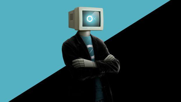 Фото бесплатно робот, одежда, голова