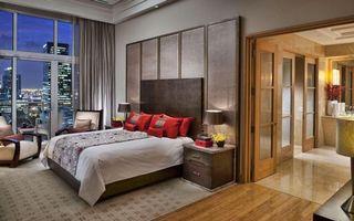Бесплатные фото спальня,кровать,кресла,тумбочки,светильники,окно,интерьер