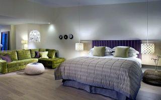 Фото бесплатно спальня, кровать, пол