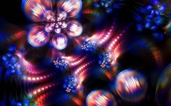 Бесплатные фото цветки,лепестки,узор,круги,градиент,графика,цветы