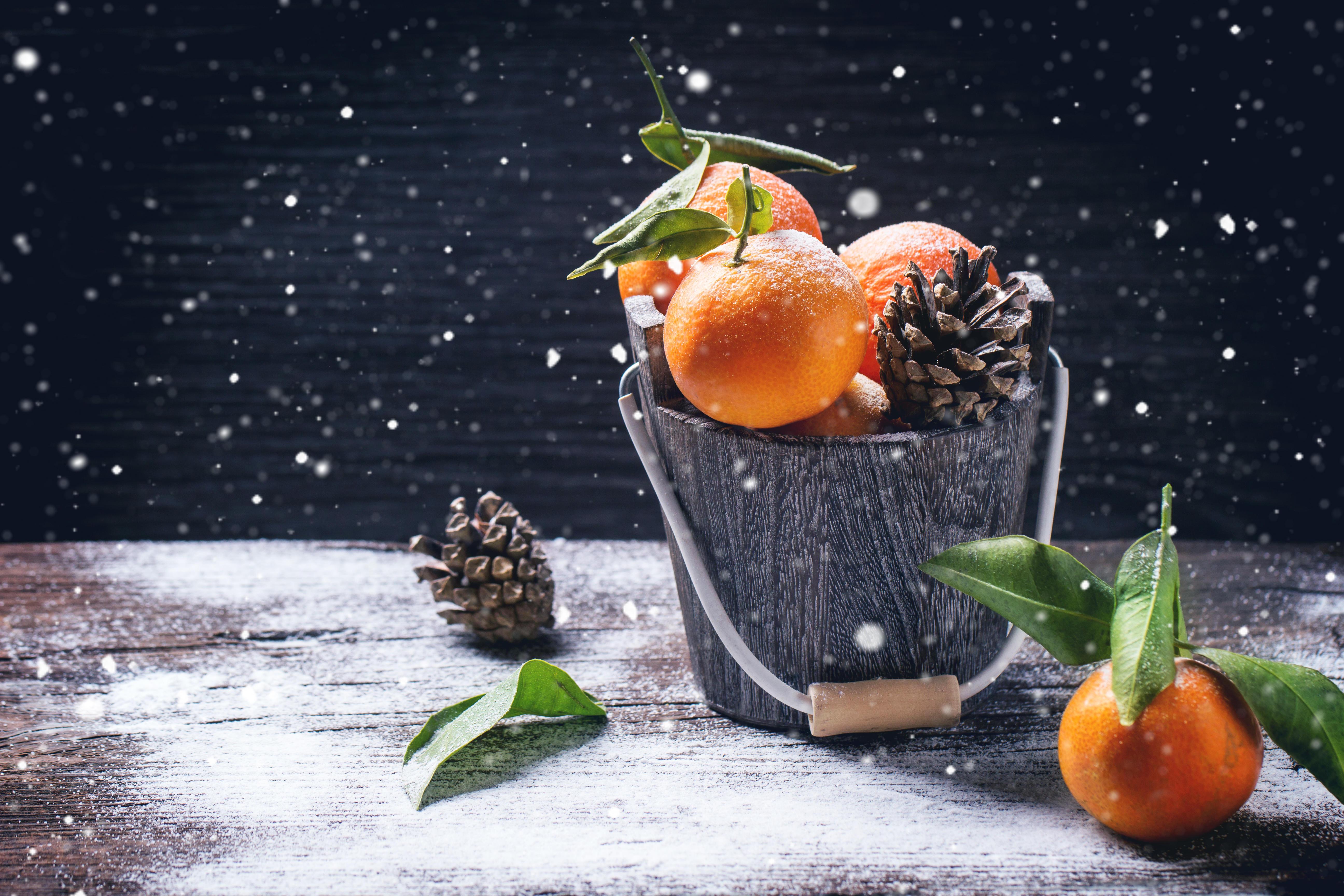 обои мандарины, фрукты, продукты, еда картинки фото