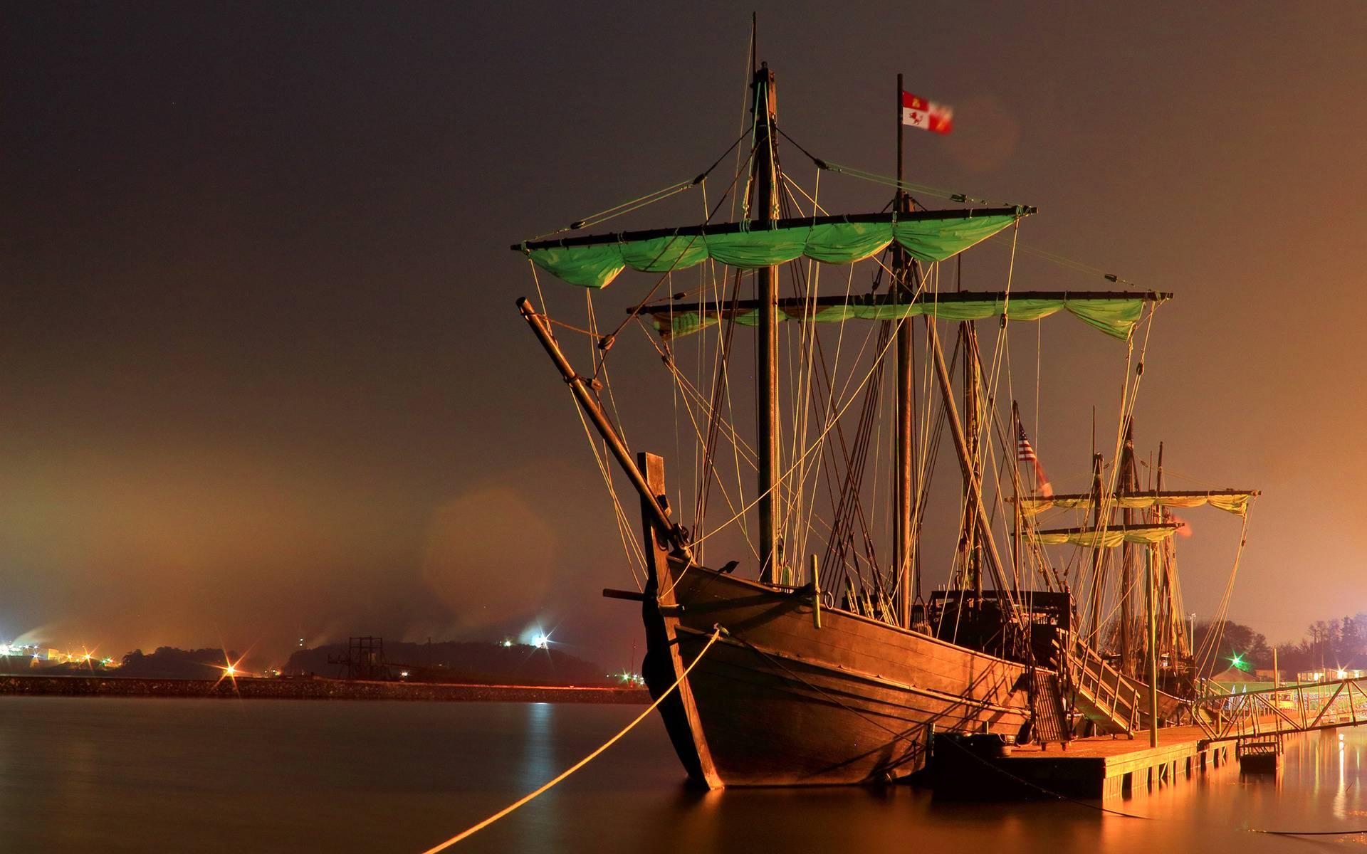 обои парусник, порт, причал, корабль картинки фото