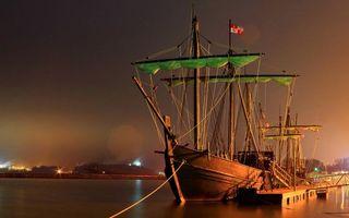 Заставки парусник, порт, причал, корабль