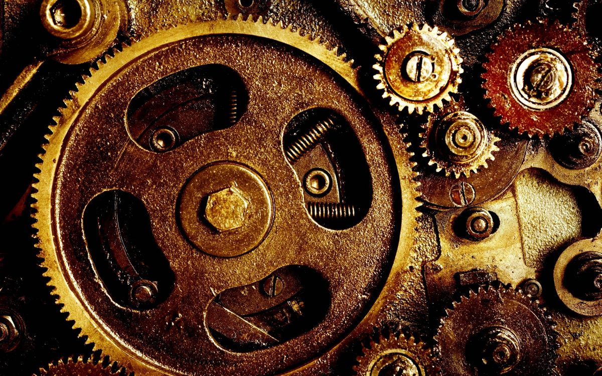 Фото бесплатно механизм, шестеренки, разное