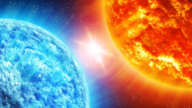 Заставка космос, планеты на экран