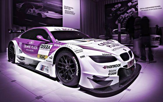 Фото бесплатно спортивная BMW, наклейки, тюнинг