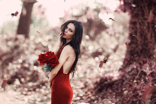 Photo free model, mood, beautiful make-up