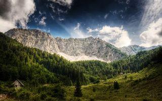Бесплатные фото строения,трава,деревья,лес,горы,скалы,небо