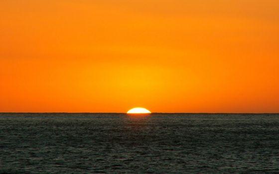 Фото бесплатно море, горизонт, солнце