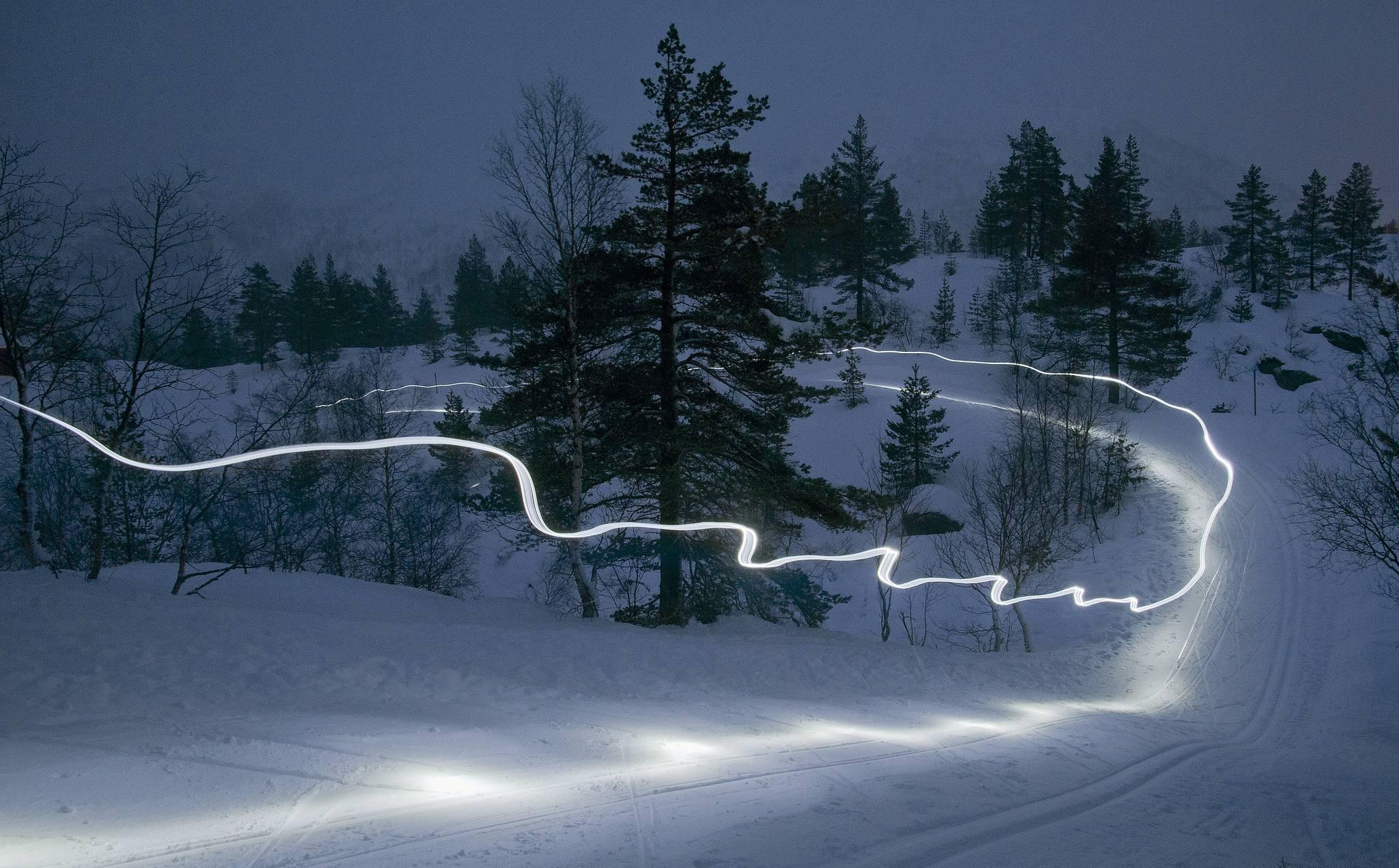 закат, зима, горы