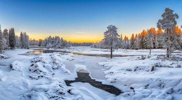 Бесплатные фото Кийминки,Финляндия,зима,закат,река,деревья,пейзаж