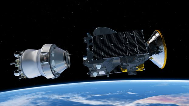 Photo free space, Exomars, ESA