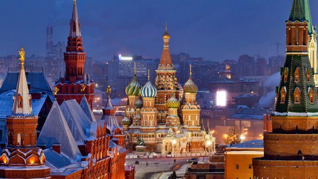 Фото бесплатно Собор Василия Блаженного, Москва, Город