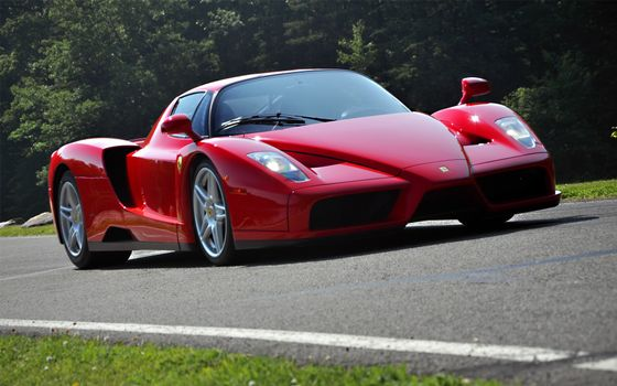 Photo free sports car, air intakes, red