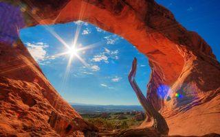 Бесплатные фото арка,скала,солнце