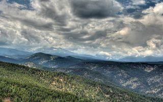 Бесплатные фото горы,растительность,деревья,вершины,небо,облака