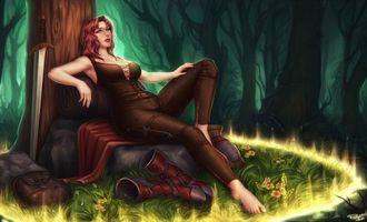 Бесплатные фото девушка,3D,комиксы,Comix