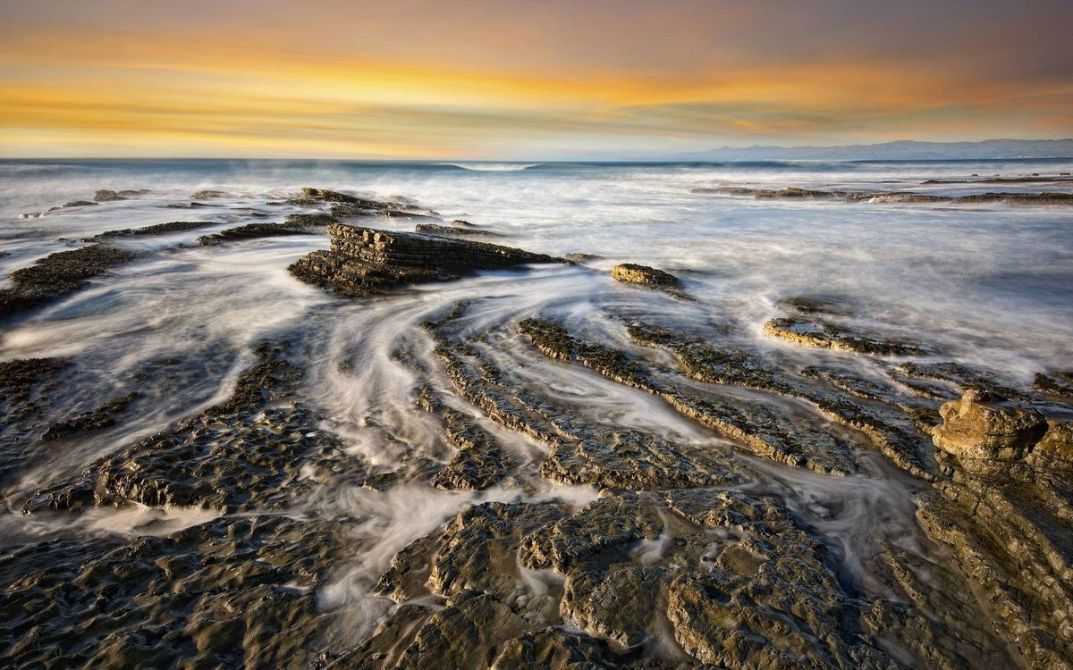 Фото бесплатно волны, скала, берег - на рабочий стол