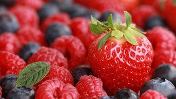 Фото бесплатно клубника, черника, ягоды
