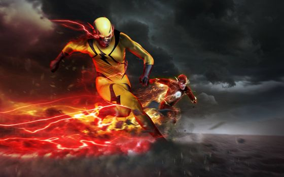 Фото бесплатно Reverse-Flash, Eobard Thawne, Barry Allen