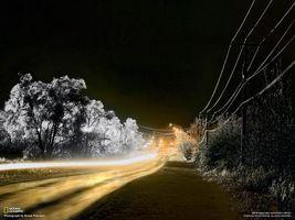 Фото бесплатно дорога, трава, свет