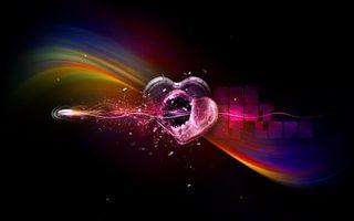 Бесплатные фото сердечко,разбитое,стрела,осколки,линии,абстракции