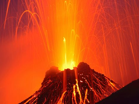 Фото бесплатно вулкан, виверження, лава, магма, червоний, пейзажи, природа