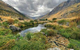 Фото бесплатно долина, небо, трава