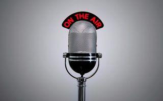 Фото бесплатно микрофон, надпись, on the air