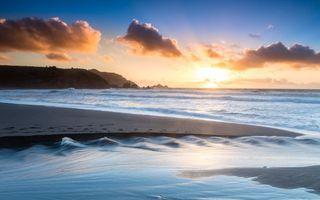 Бесплатные фото море, берег, песок, горы, небо, облака, природа