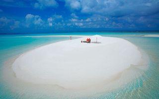 Бесплатные фото море,остров,песок,белый,кровать,девушка,пейзажи