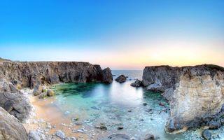 Фото бесплатно море, скалы, пляж