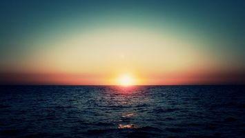 Фото бесплатно волны, горизонт, солнце