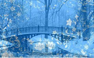 Бесплатные фото мост,река,вода,деревья,парк,зима,снег