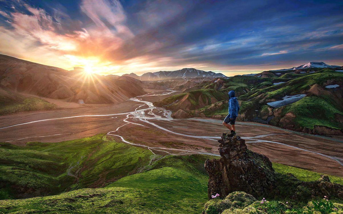 Фото бесплатно пейзаж, горы, солнце, пейзажи, пейзажи