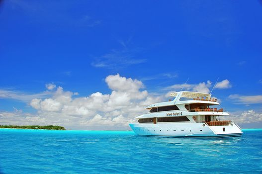 Photo free tropics, sea, yacht