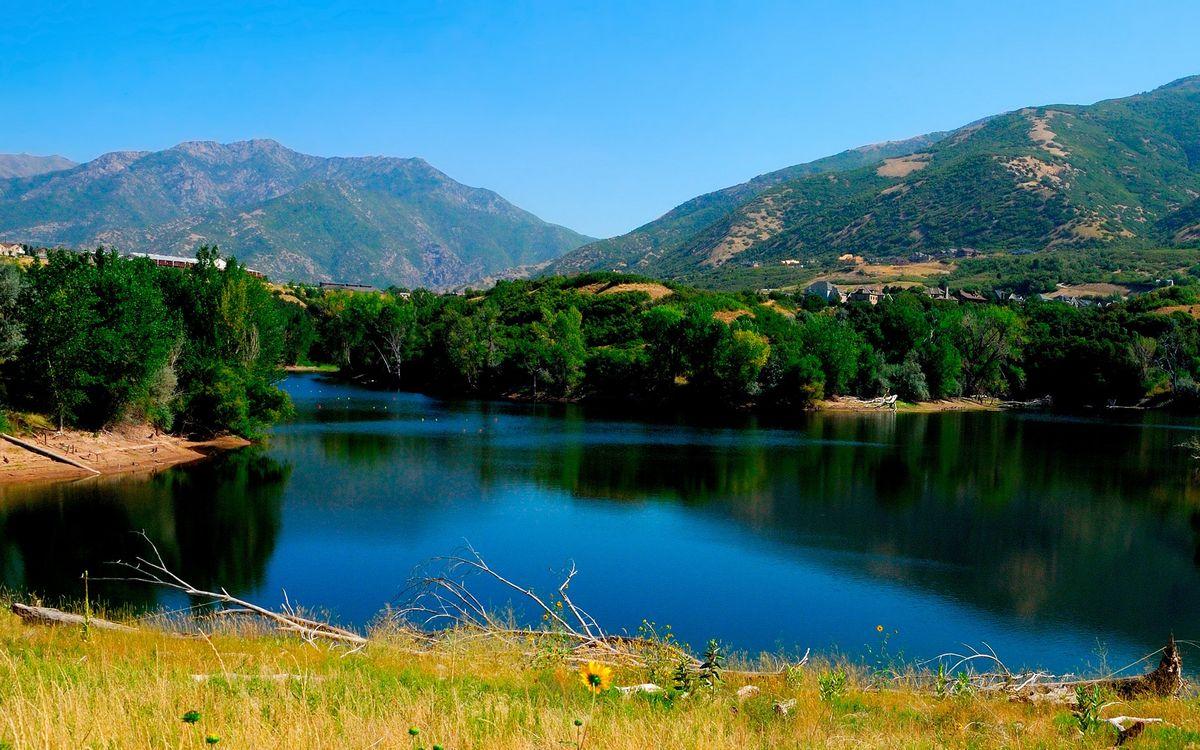 Фото бесплатно вода, река, озеро, лес, деревья, трава, горы, природа, природа