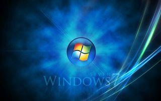 Бесплатные фото windows,семь,фон,синий,линии,полоски,надпись