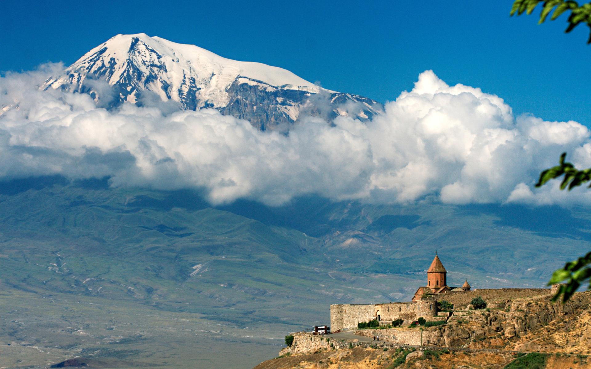 замок, подножье, горы