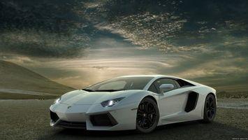 Бесплатные фото lamborghini,aventador,lp700-4,автомобиль,білий,колеса,фары