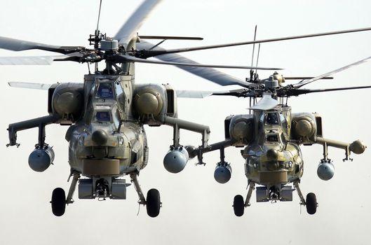 Фото бесплатно ми-28н, вертолет, два вертолета