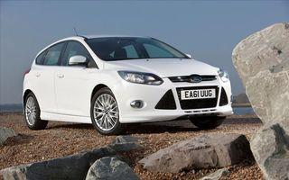 ford, focus, белый, фары, решетка
