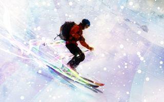 Бесплатные фото лыжник,лыжи,спорт