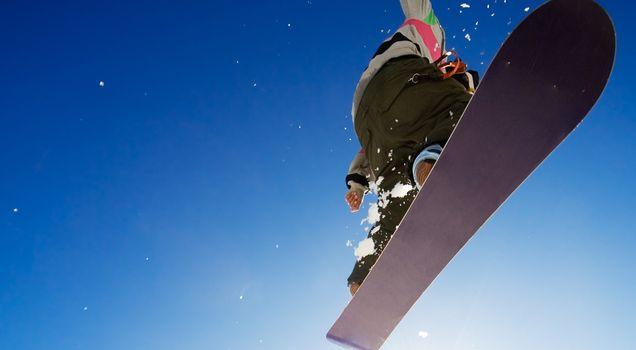 Фото бесплатно сноуборд, доска, прыжок