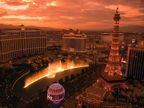 Бесплатные фото вегас,місто,фонтан,казино,висота,город