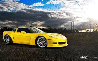 Обои chevrolet, жёлтый, поле, машины