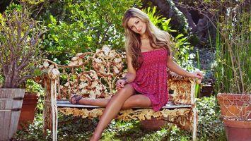 Фото бесплатно сад, волосы, девушка